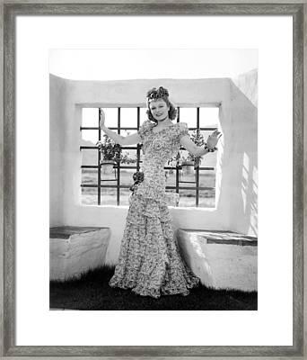 Anna Neagle, Modeling A Fuschia Framed Print by Everett