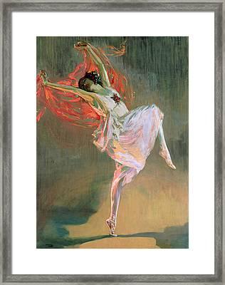 Anna Pavlova, 1910 Framed Print by Sir John Lavery