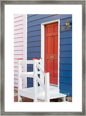 Annapolis Historic Homes IIi Framed Print by Clarence Holmes