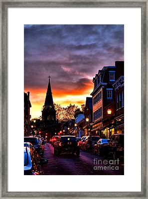 Annapolis Night Framed Print by Olivier Le Queinec