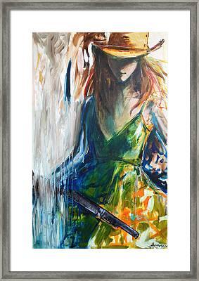 Annie Oakley Framed Print by Nancy Hilliard Joyce
