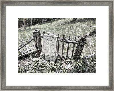 Annie Opie - Elkhorn Ghost Town - Montana Framed Print by Daniel Hagerman