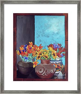 Annie's Flowers Framed Print by Yvonne Gillengerten
