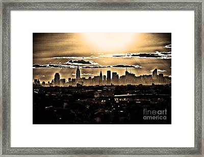 Another Day Lived In New York Framed Print by Alessandro Giorgi Art Photography