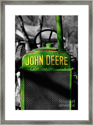 Another Deere Framed Print by Cheryl Young