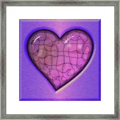 Another Purple Heart Framed Print by Wendy J St Christopher