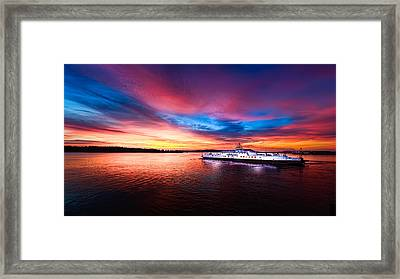Another View Of A Great Sunrise Framed Print by Mike Thompson
