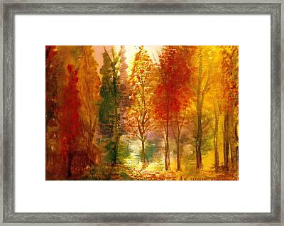 Another View Of Autumn Hideaway Framed Print by Anne-Elizabeth Whiteway