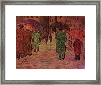 Another Walk In The Rain Framed Print by Christy Saunders Church