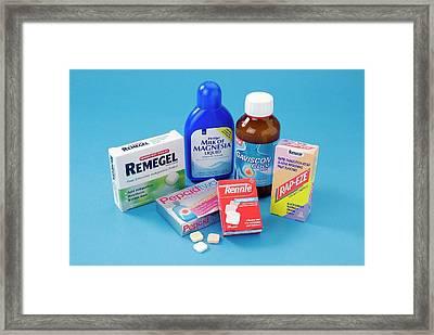 Antacid Medicines Framed Print by Trevor Clifford Photography