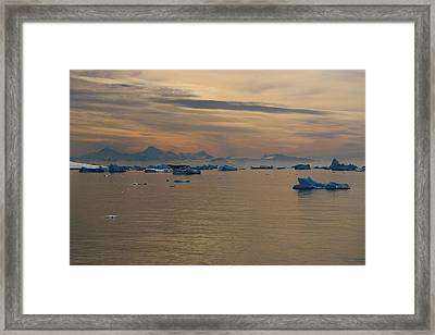 Antarctic Ice Framed Print by FireFlux Studios