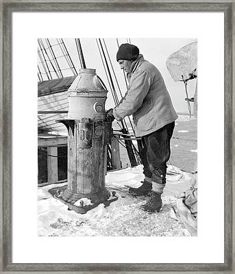 Antarctic Maritime Activity Framed Print by Scott Polar Research Institute