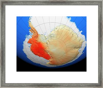 Antarctic Warming Trend Framed Print by Nasa/goddard Space Flight Center Scientific Visualization Studio