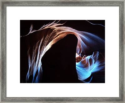 Antelope Canyon 09 Framed Print by Jeff Brunton