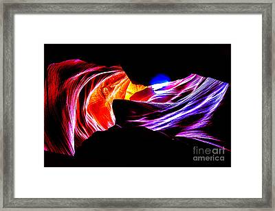 Antelope Canyon Colours Framed Print by Az Jackson