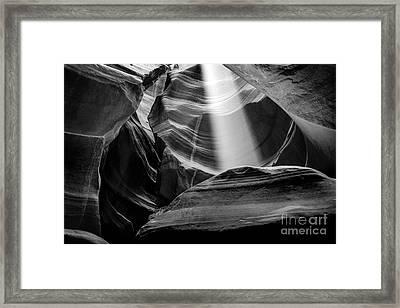 Antelope Canyon Beam 2 Framed Print by Az Jackson