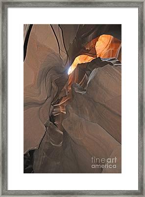 Antelope Canyon Framed Print by Brenda Kean
