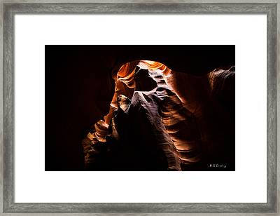 Antelope Canyon Light Framed Print by Bill Cantey