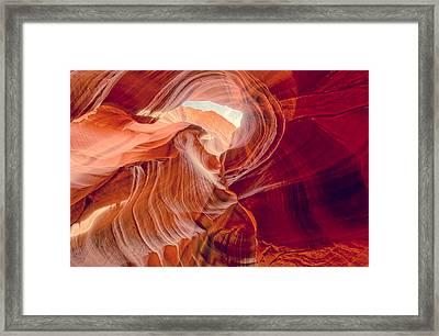 Antelope Canyon Navajo Nation Page Arizona Weeping Warrior Framed Print by Silvio Ligutti