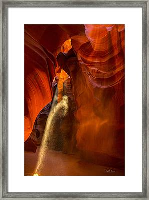 Antelope Canyon - Sand In The Light Framed Print by Angela A Stanton