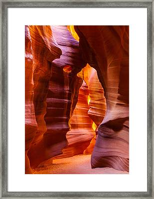 Antelope Canyon Framed Print by Susan  Schmitz