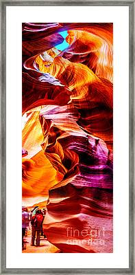 Antelope Canyon Tour Framed Print by Az Jackson