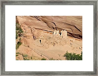 Antelope House Ruins Blending In Framed Print by Christine Till