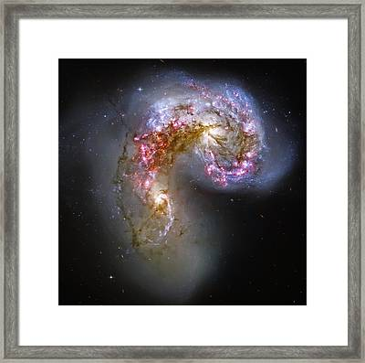 Antennae Galaxies Collide 1 Framed Print by The  Vault - Jennifer Rondinelli Reilly