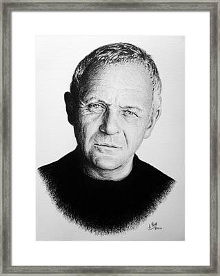 Anthony Hopkins Framed Print by Andrew Read