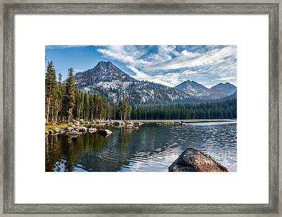 Anthony Lake Framed Print by Robert Bales