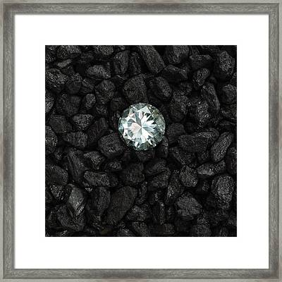Anthracite And Diamond Framed Print by Science Photo Library