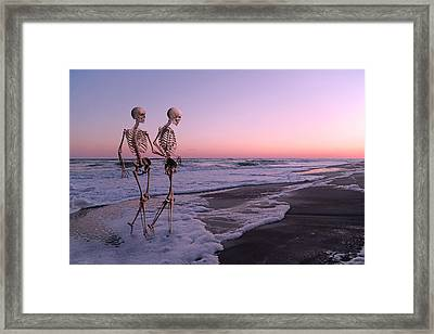 Anthropology Shared Similarities  Framed Print by Betsy C Knapp