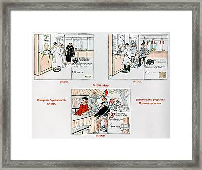 Anti-bolshevik Cartoon Framed Print by Granger