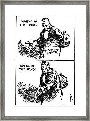 Anti-trust Cartoon, 1914 Framed Print by Granger