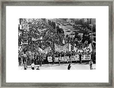 Anti Vietnam War Demonstration Framed Print by Underwood Archives Adler