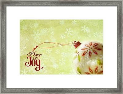 Anticipation Ornament Framed Print by Rebecca Cozart