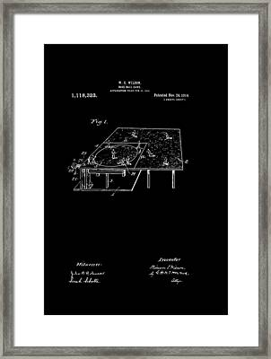 Antique Baseball Game Patent Framed Print by Mountain Dreams