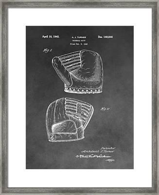 Antique Baseball Mitt Framed Print by Dan Sproul