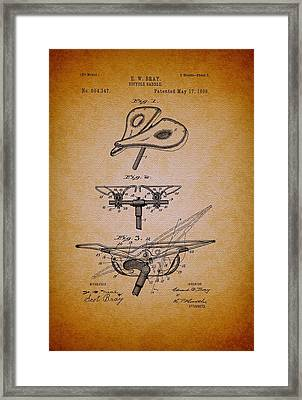 Antique Bicycle Saddle Patent 1898 Framed Print by Mountain Dreams