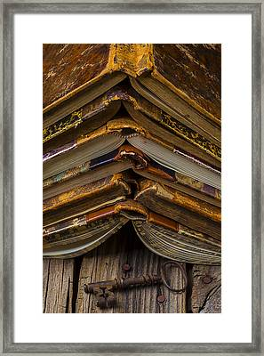 Antique Books Framed Print by Garry Gay