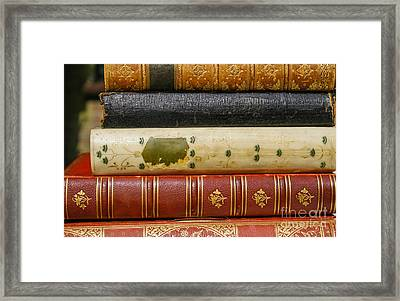 Antique Books Framed Print by Patricia Hofmeester