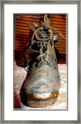 Antique Boots Framed Print by Danielle  Parent