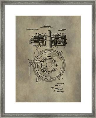 Antique Brakes Patent Framed Print by Dan Sproul