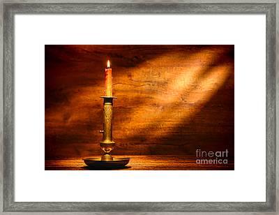 Antique Candlestick Framed Print by Olivier Le Queinec