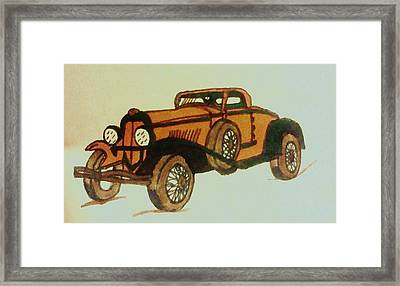 Antique Car Framed Print by Christy Saunders Church