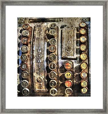 Antique Cash Register Framed Print by Guna  Andersone
