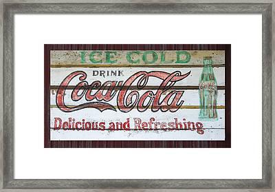 Antique Coca Cola Sign  Framed Print by Chris Flees