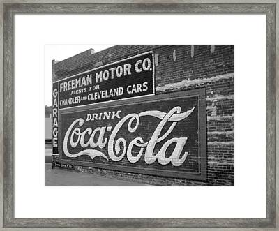 Antique Cola Sign Framed Print by Ann Powell