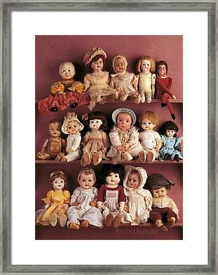 Antique Dolls Framed Print by Anne Geddes