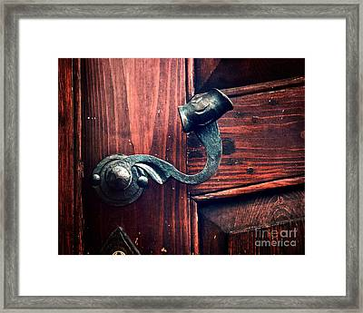Antique Door Knob Framed Print by Ivy Ho